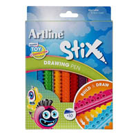 ARTLINE STIX DRAWING PEN PACK 10