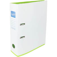 BANTEX LEVER ARCH FILE 70MM A4 2 TONE WHITE AND LIME