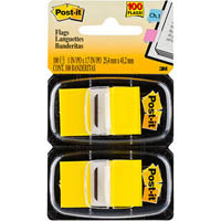 POST-IT 680-YW2 FLAGS YELLOW TWIN PACK 100