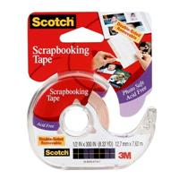 SCOTCH 002 DOUBLE SIDED PHOTO AND DOCUMENT MOUNTING TAPE 12.7MM X 7.62M