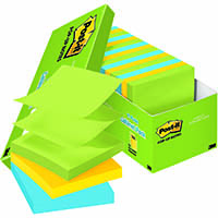 POST-IT R330-18AUCP POP-UP NOTES 76 X 76MM ASSORTED JAIPUR COLOURS CABINET PACK 18