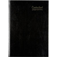 CUMBERLAND 2018-2019 FINANCIAL YEAR DIARY 1 DAY TO A PAGE CASEBOUND A4 BLACK