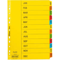 BANTEX MANILLA INDEX DIVIDER JAN-DEC TAB A4 WHITE