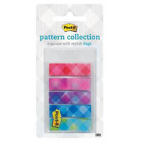 3M 683-PLAID1 POST-IT PLAID FLAGS GINGHAM COLLECTION 12 X 43MM PACK 100