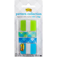 3M 686-LA-PLAID POST-IT TABS AND PLAID FLAGS GINGHAM COLLECTION LIME/AQUA COLOURS PACK 62