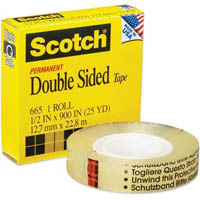 SCOTCH 665 DOUBLE SIDED TAPE 12MM X 33M