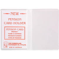 CUMBERLAND CARD HOLDER 2 CLEAR POCKETS 100 X 70MM CLEAR PACK 10