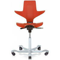 HAG CAPISCO PULS 8010 SADDLE CHAIR RED/SILVER