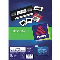 AVERY 936048 J8657 SMALL ITEM LABEL LASER 42UP WHITE PACK 50