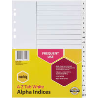 MARBIG INDEX DIVIDER PP A-Z TAB A4 WHITE