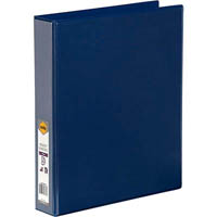 MARBIG CLEAR VIEW INSERT RING BINDER 3D 38MM A4 BLUE