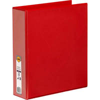 MARBIG CLEAR VIEW INSERT RING BINDER 2D 50MM A4 RED