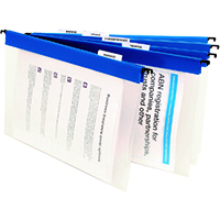 MARBIG SUSPENSION FILES CLEAR/BLUE BOX 10