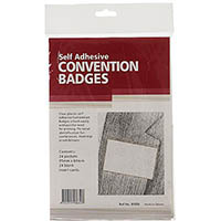REXEL CONVENTION BADGE SELF ADHESIVE PACK 24