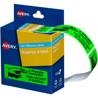 AVERY 937261 MESSAGE LABELS FRIENDLY NOTICE 19 X 64MM BOX 125