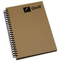 QUILL HARDCOVER SPIRAL BOUND NOTE BOOK 160 PAGE A7