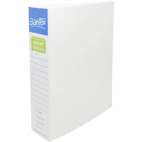 BANTEX POLY RING BINDER 2D 50MM A4 WHITE
