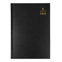 COLLINS 2020 STERLING DIARY DAY TO PAGE 1 HOURLY A5 BLACK