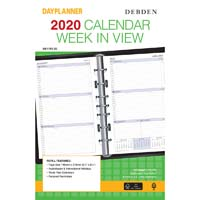 DEBDEN 2020 DAYPLANNER DESK EDITION REFILL WEEK TO VIEW 216 X 140MM WHITE