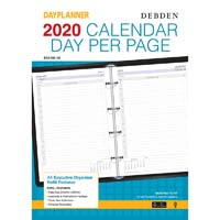DEBDEN 2019 DAYPLANNER EXECUTIVE EDITION REFILL DAY TO PAGE
