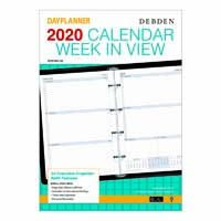 DEBDEN 2019 DAYPLANNER EXECUTIVE EDITION REFILL WEEK TO VIEW