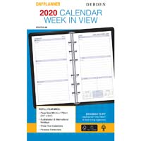 DEBDEN 2019 DAYPLANNER PERSONAL EDITION REFILL WEEK TO VIEW