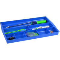 ITALPLAST DRAWER TIDY 8 COMPARTMENT BLUEBERRY
