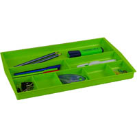 ITALPLAST DRAWER TIDY 8 COMPARTMENT LIME