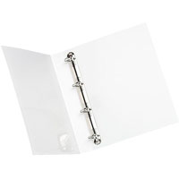 INITIATIVE INSERT RING BINDER 4D 50MM A4 WHITE