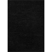 INITIATIVE LEATHERGRAIN BINDING COVERS A4 350GSM BLACK PACK 100