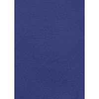 INITIATIVE LEATHERGRAIN BINDING COVERS A4 350GSM BLUE PACK 100