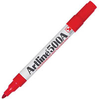 ARTLINE 500A WHITEBOARD MARKER BULLET 2MM RED