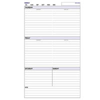 DEBDEN DAYPLANNER PERSONAL EDITION REFILL EDITION WEEKLY NON-DATED 6 RING 172 X 96MM 60 PAGES
