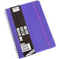 QUILL PREMIUM NOTE BOOK 200 PAGE A5 VIOLET