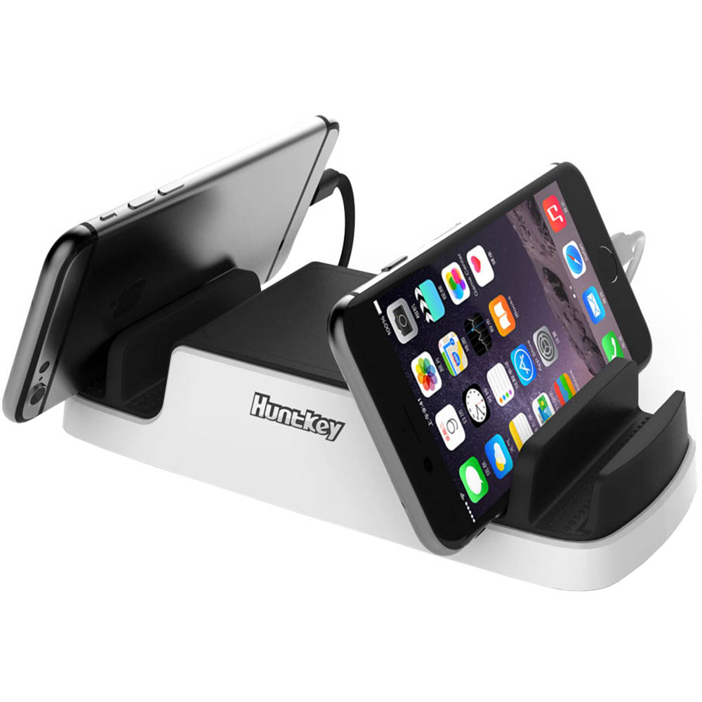 Image for HUNTKEY SMARTU 4-PORT 40W USB CHARGING DOCK BLACK/WHITE from Surry Office National