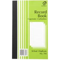OLYMPIC NO.705 RECORD BOOK CARBONLESS TRIPLICATE 50 LEAF 200 X 125MM