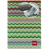 MIQUELRIUS NOTEBOOK 7MM RULED 144 PAGE 144GSM 104 X 150MM ZIGZAG PACK 5
