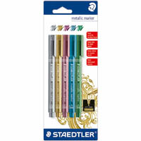 STAEDTLER METALLIC MARKERS ASSORTED PACK 5