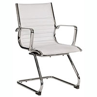 YS DESIGN COGRA CANTILEVER CHAIR LEATHER PU WHITE