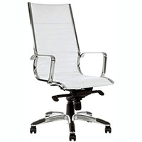 YS DESIGN COGRA OFFICE CHAIR HIGH BACK PU WHITE