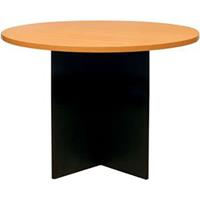 OXLEY ROUND MEETING TABLE 900MM DIAMETER BEECH/IRONSTONE